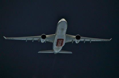 Emirates A330 over India