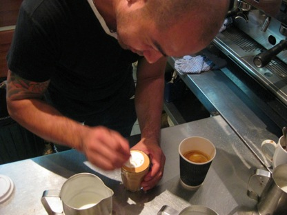 giotto barista at work
