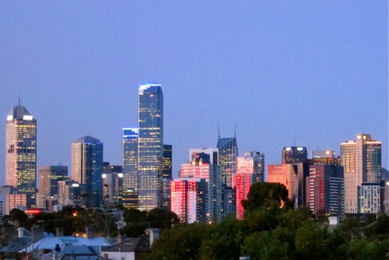 Melb Skyline Sunset
