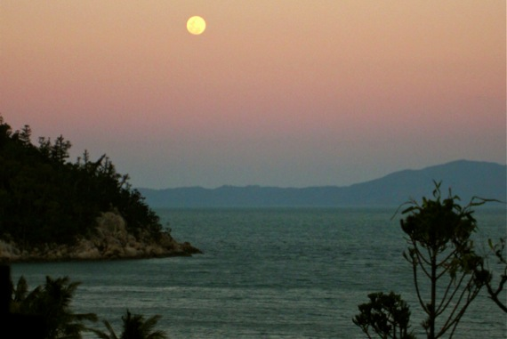 full moon over magnetic island