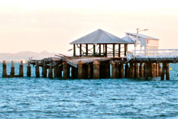 Cyclone damaged Picnic-Bay-pier