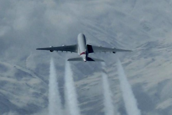 A380 over Turkey